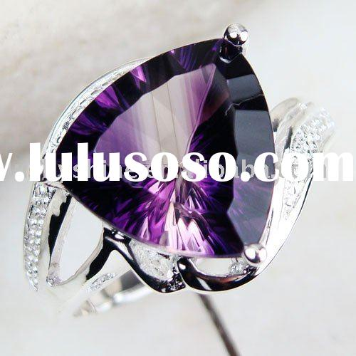 vintage jewelry 925 silver fashion gemstone ring mystic topaz