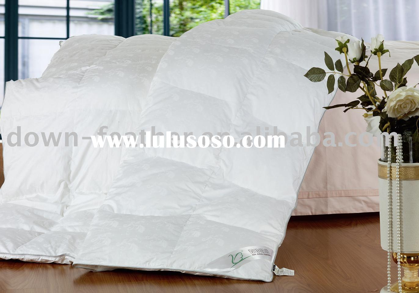 white goose down quilt and duvet