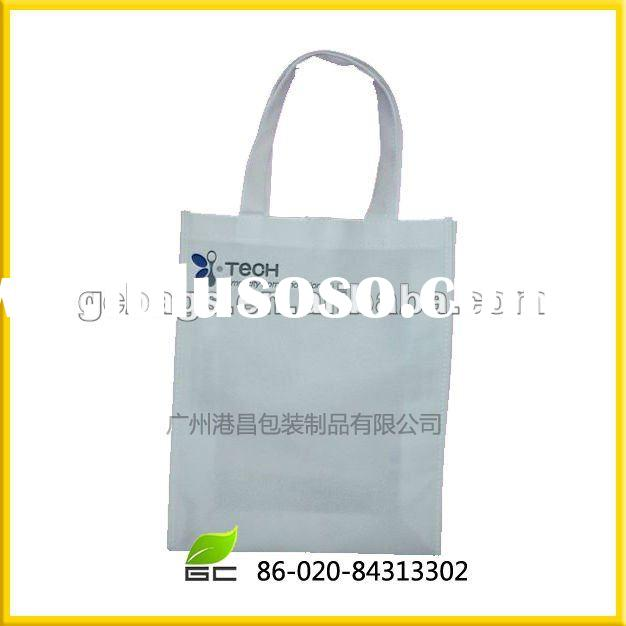 white plastic shopping bag,promotion bag with handle