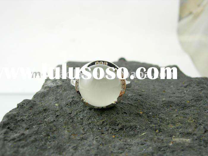 wholesale sterling silver natural moonstone ring y12255r