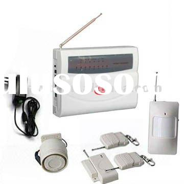 wireless auto dial home security alarm system with 8 defensive zones