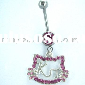 023 HELLO KITTY FASHION BELLY BUTTON RING