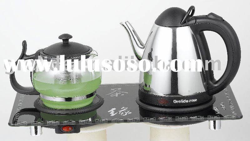 0.8L Stainless steel electric kettle with tea cup for tea making