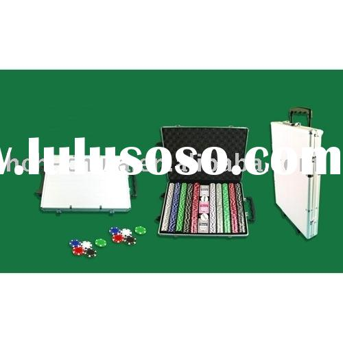1000 PC Poker Chip Set In Strolly Aluminum Case