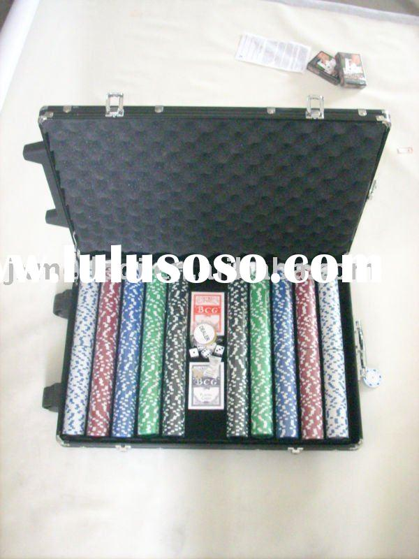 1000pc poker chip set with aluminum case