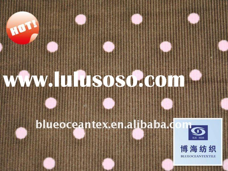 100% Cotton Printed Corduroy Fabric Polka Dot Corduroy Fabric Factory In Huzhou City,Zhejiang,China