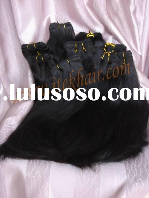 100% indian remy hair weaving and weft,MOQ is around 4OZ, hair extension, accept paypal