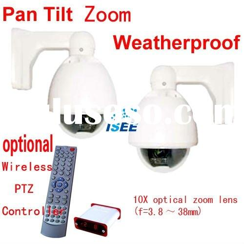 10X Optical Zoom Lens CCTV Vandalproof Mini PTZ Outdoor Speed Dome Camera