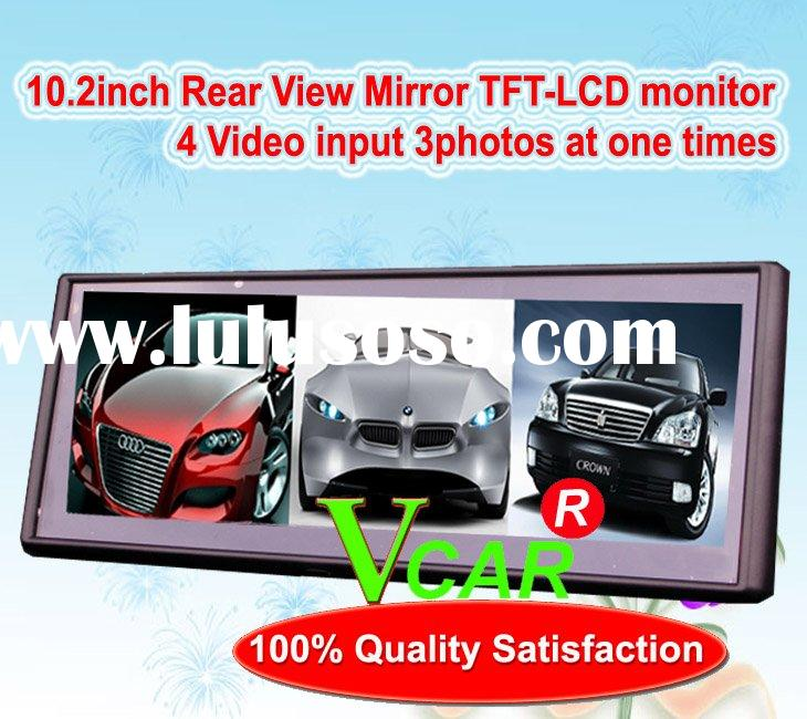 10.2 Inch car rearview mirror monitor with 3 split