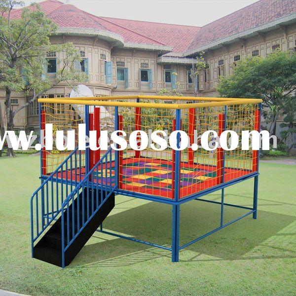 12m Large Rectangular Trampoline With Safetynet For Sale