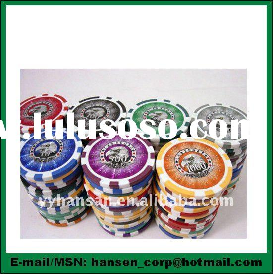 14g CLAY SILVER EAGLE CASINO POKER CHIPS