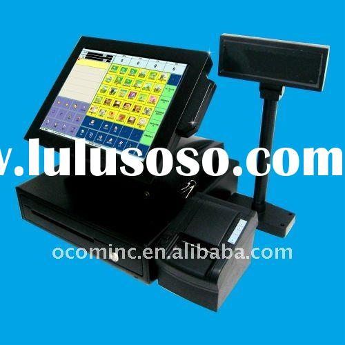 15 Inch All-in-One Touch Restaurant POS System With Printer And Customer Display (POS8819S)