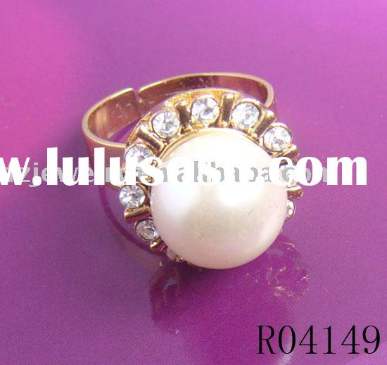 18K Gold Plated fashion pearl Ring