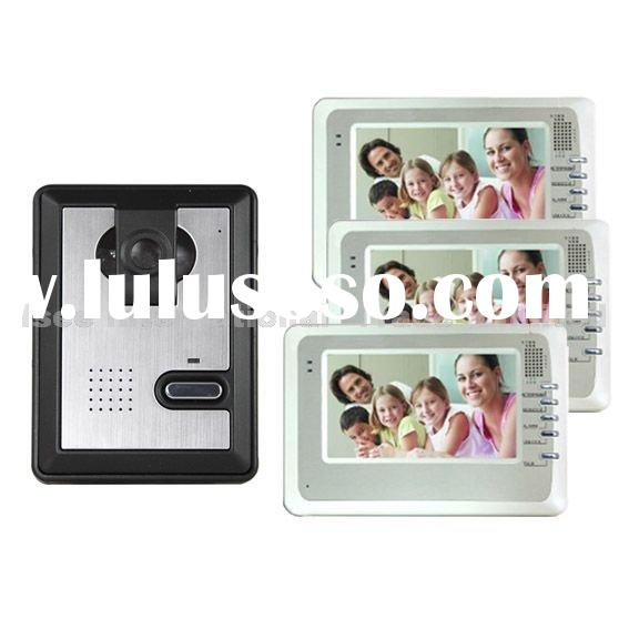 1-3 7-inch LCD Screen with CCD camera Video Recording Door Phone