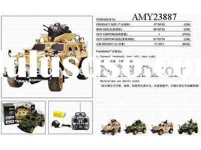 1:4 remote control military hummer toy car with(soldier)
