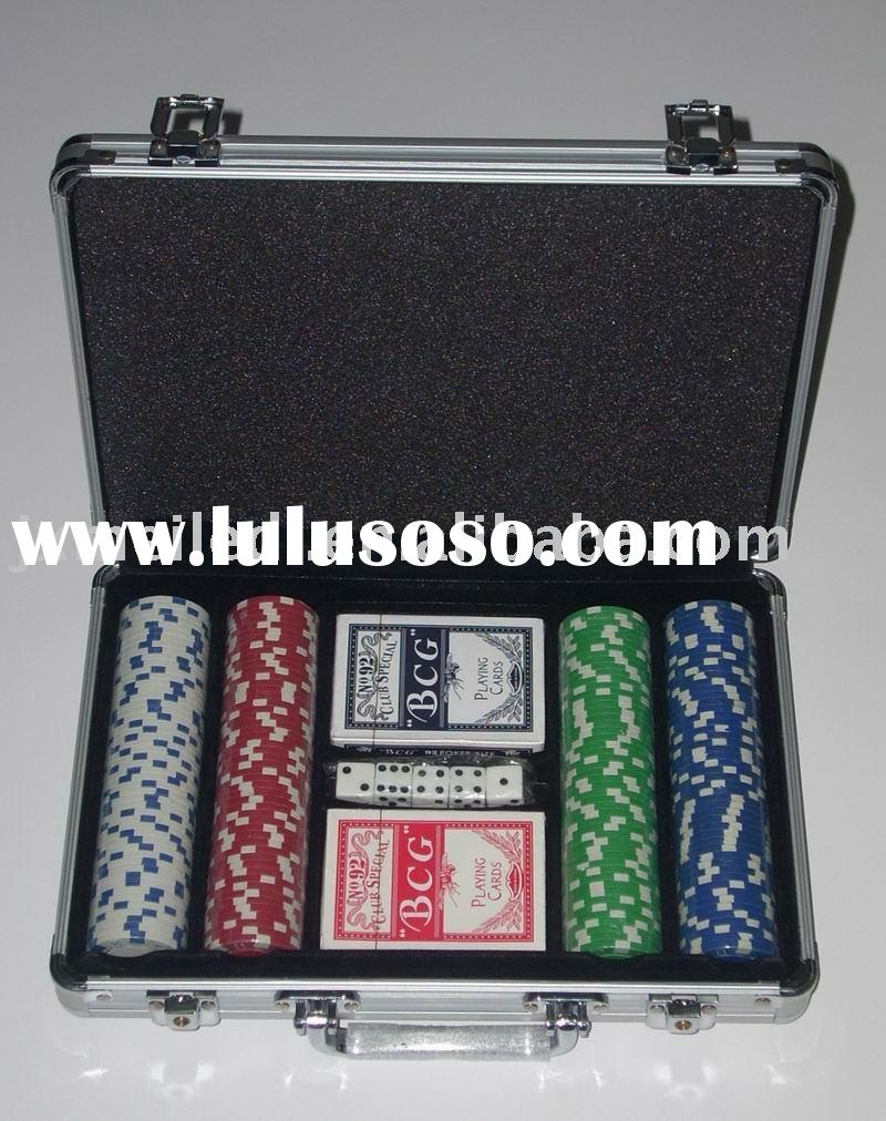 200pieces aluminum round edges poker chips set