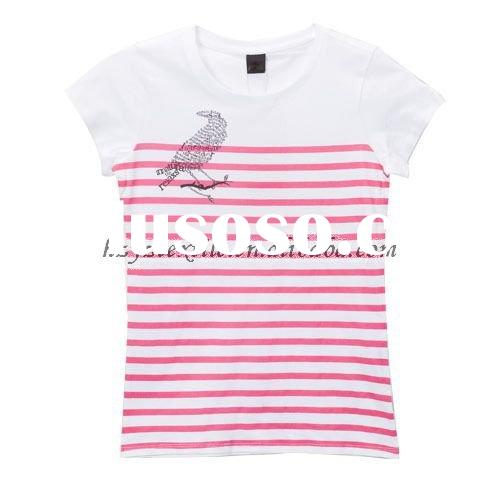 2011 HOT SALE fashion & popular ladies' & women's striping short sleeve t-sh