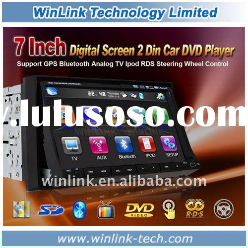 2011 Hot Universal Car radio 2 Din 7 Inch With Car DVD Player