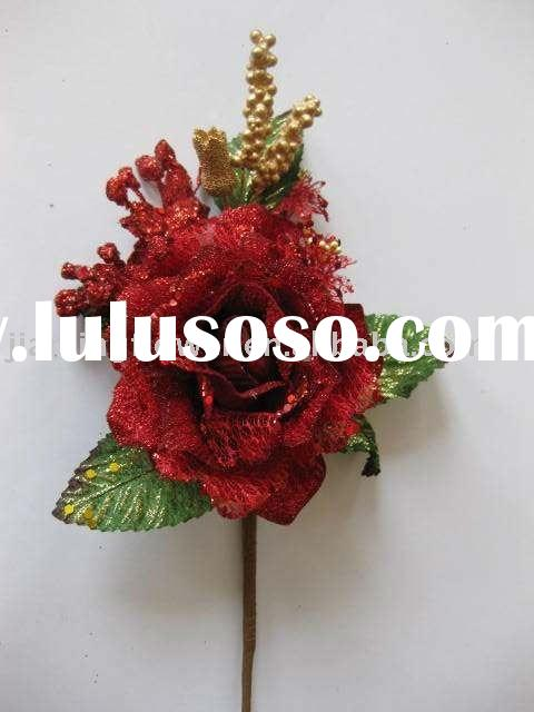2011 Hot sell decorated artificial flower rose (Gift use series)