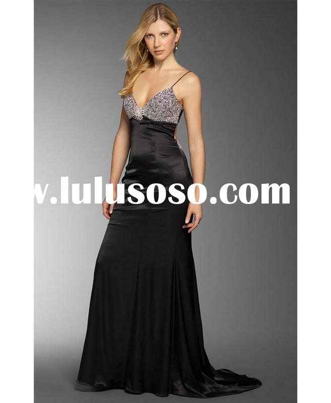 2011 New Style Beaded Evening Wear Gowns Clothes For Womens and Ladies Party Dress 5151