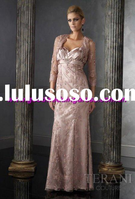 2011 New style fashion Elegant long sleeve appiqued good quality lace Evening Dress/Party Dress/Prom