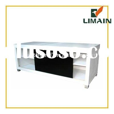 2011 new design living room lcd tv stand wooden furniture