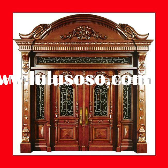 2011 new design solid wood composite door with Complex carve patterns or designs on woodwork
