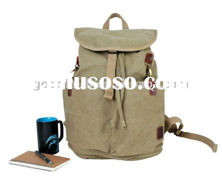 2011 new fashion cheap canvas school backpack