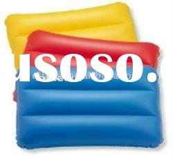 2011 new fashion promotion pvc plastic inflatable beach pillow for travel