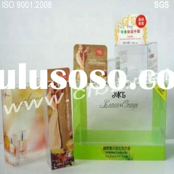 2011 new style plastic packaging box with printing for perfume