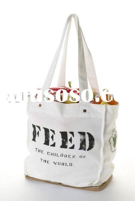 2011 recycle folding cotton canvas tote bag