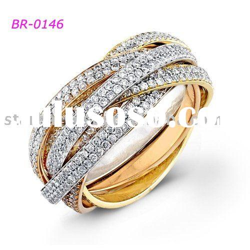2011 two-tone plated fashion ring