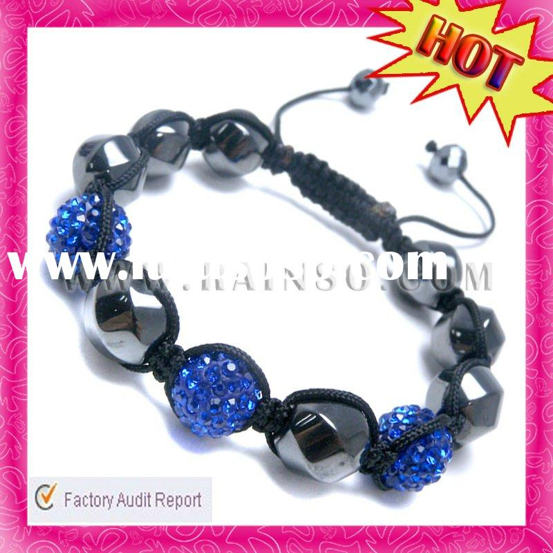 2012 Hot Blue Diamond Fashion Wholesale Shamballa Bracelet