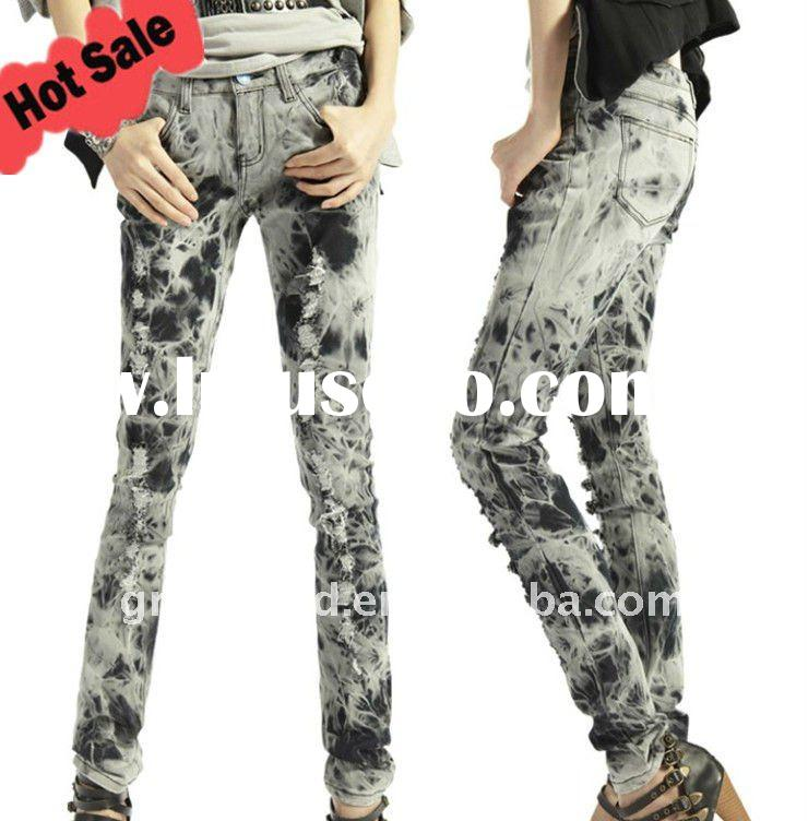 2012 Lastest Design Low Waist Lady Skinny Jeans(GKC05)