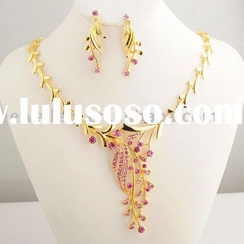 2012 New Fashion Flower Necklace sets trendy jewelry