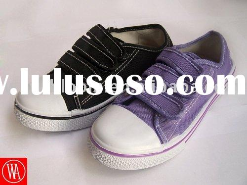 2012 fashion children canvas school shoes