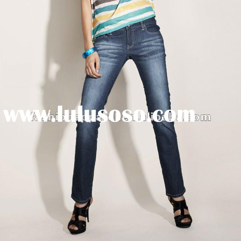 2012 latest design jeans pants for women