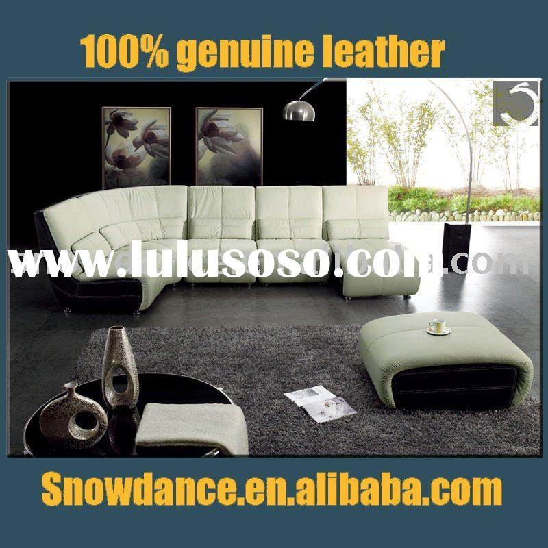 2012# modern leather living room furniture