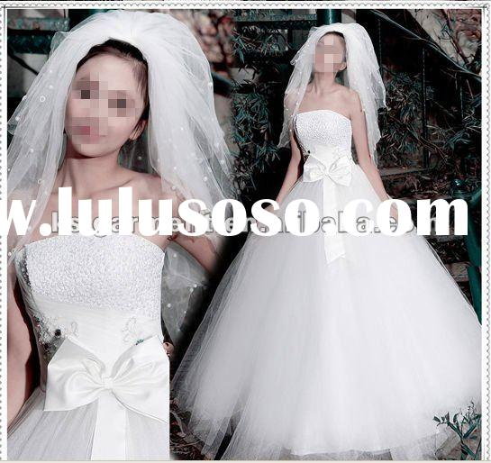 2012 new design embroidery sequin wedding dress