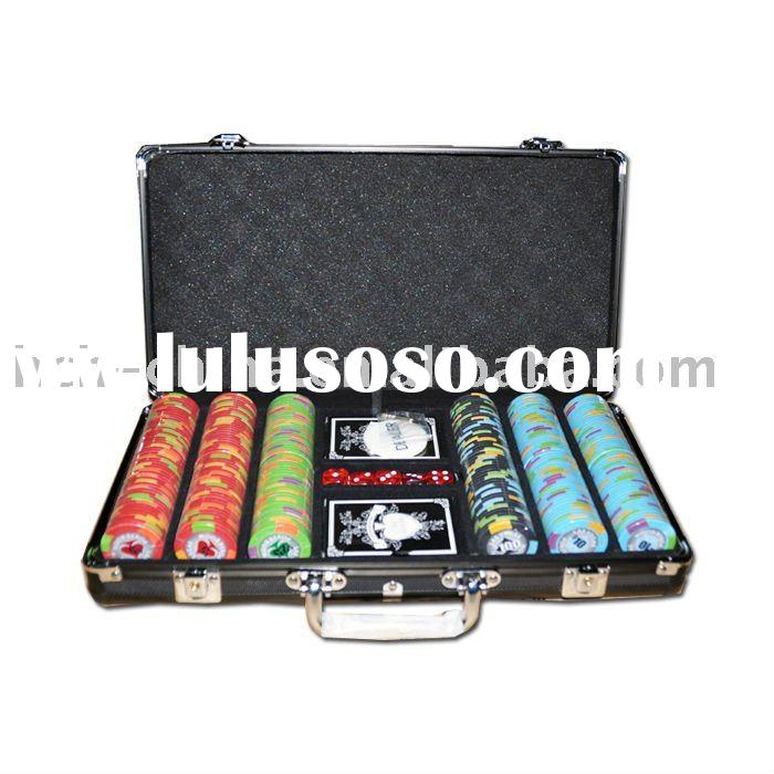 300 pc poker chip set, In Black Aluminum Case