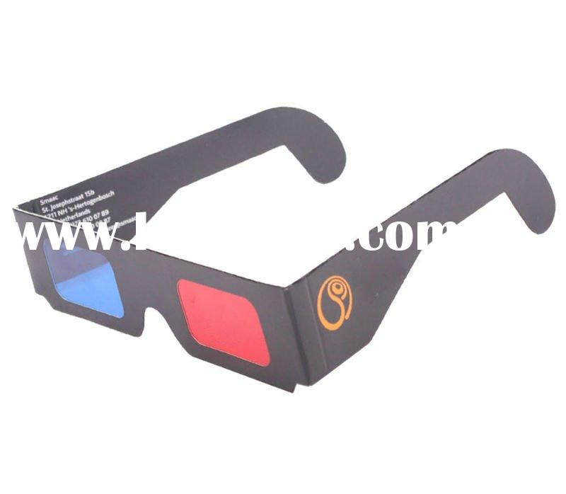 3D glasses, Red Cyan, Promotions paper craft glasses