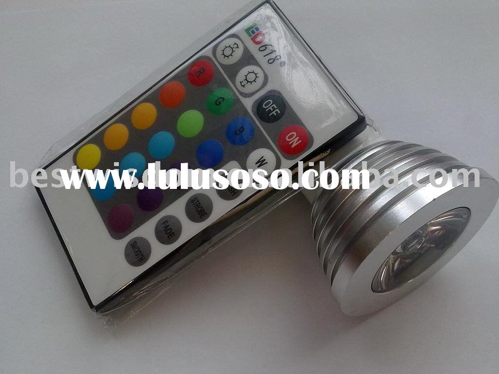 3W MR16 LED RGB Dimmable Light
