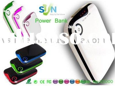 5000mAh universal external battery pack for mobile phone,iphone,3g,4g,mp3,mp4,psp,gps,ndsi,camera