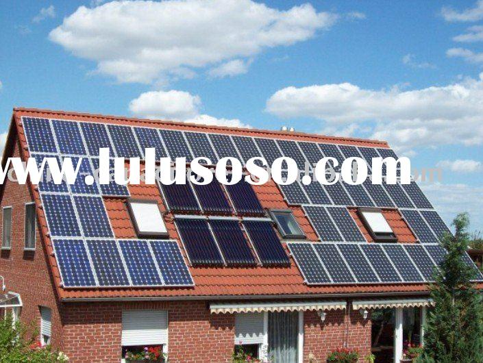 5000w grid tie solar system(solar module+inverter+cable connector+mounting)