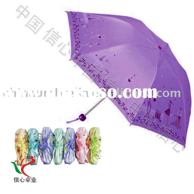 5 folding uv 2011 fashion custom printed umbrella #NU-103