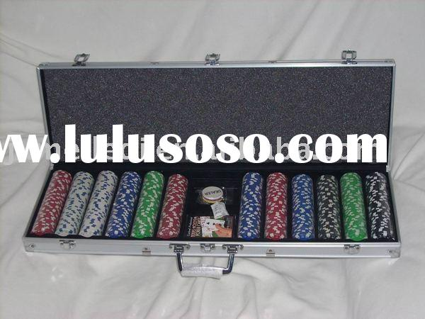 600 pcs promotion poker chip set
