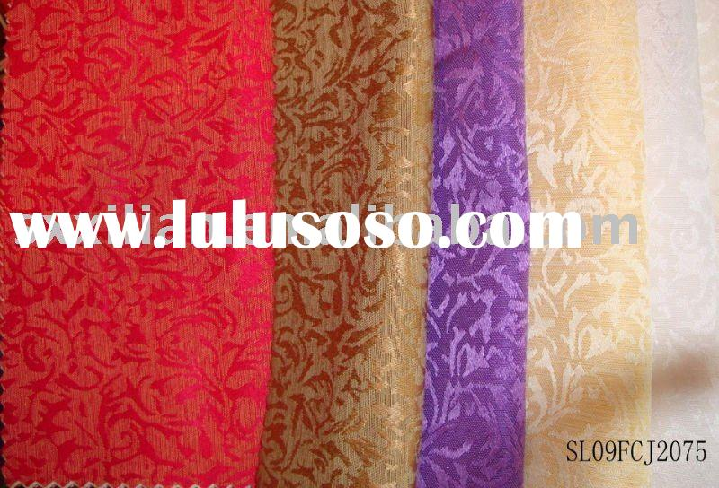 60% polyester 40%cotton Jacquard Tablecloth Fabric