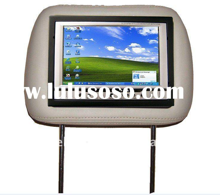 """7"""" car touch screen lcd Headrest monitor with Automatic Rearview/Wireless Remote/LED car displa"""