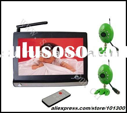 7 inch LCD baby monitor with 2 cameras