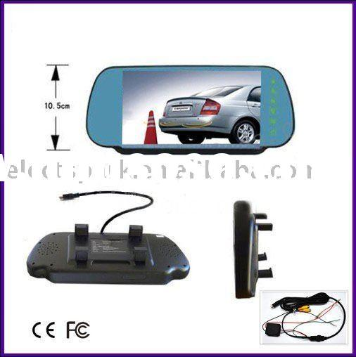 7 inch TFT LCD Car reverse rear view mirror monitor